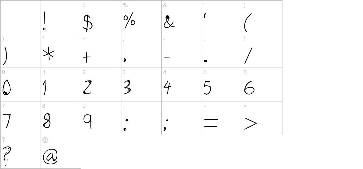 Three Dots Medium characters