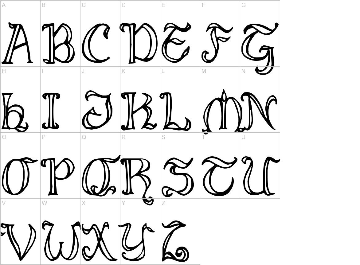 Middle Earthian Maphand uppercase