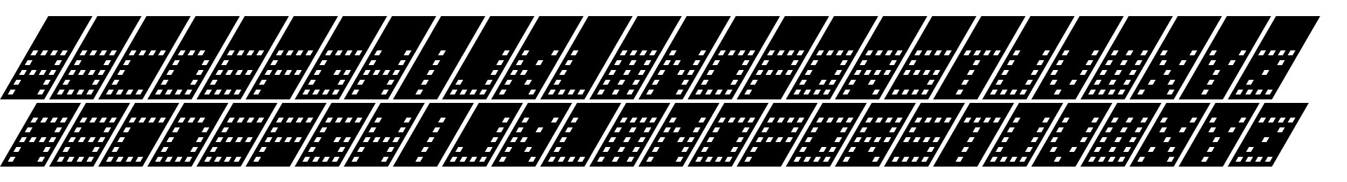 Tower Block Italic