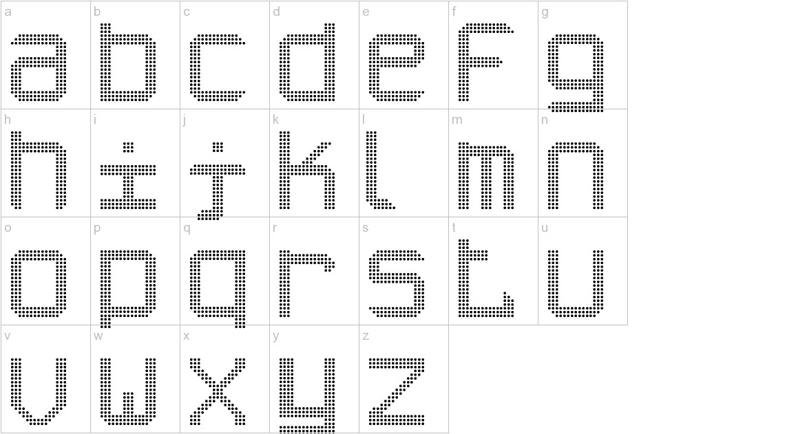 Tripleled ST lowercase