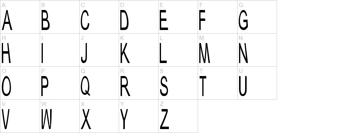 Typical ABC uppercase