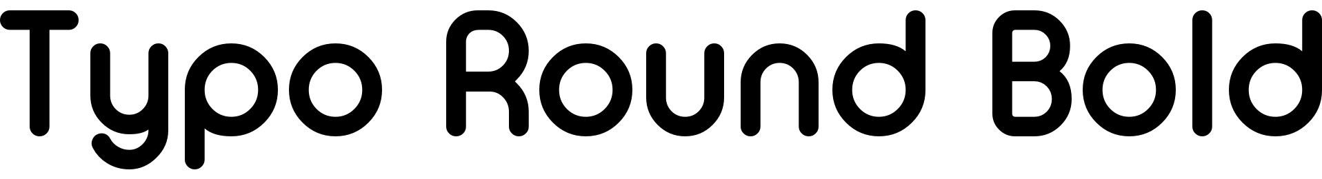 Typo Round Bold