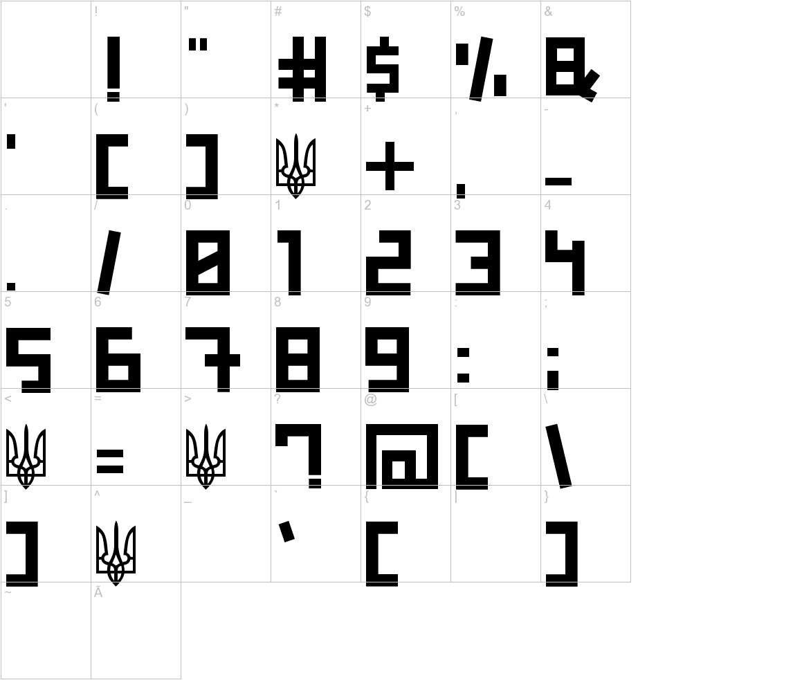 Ukraine characters