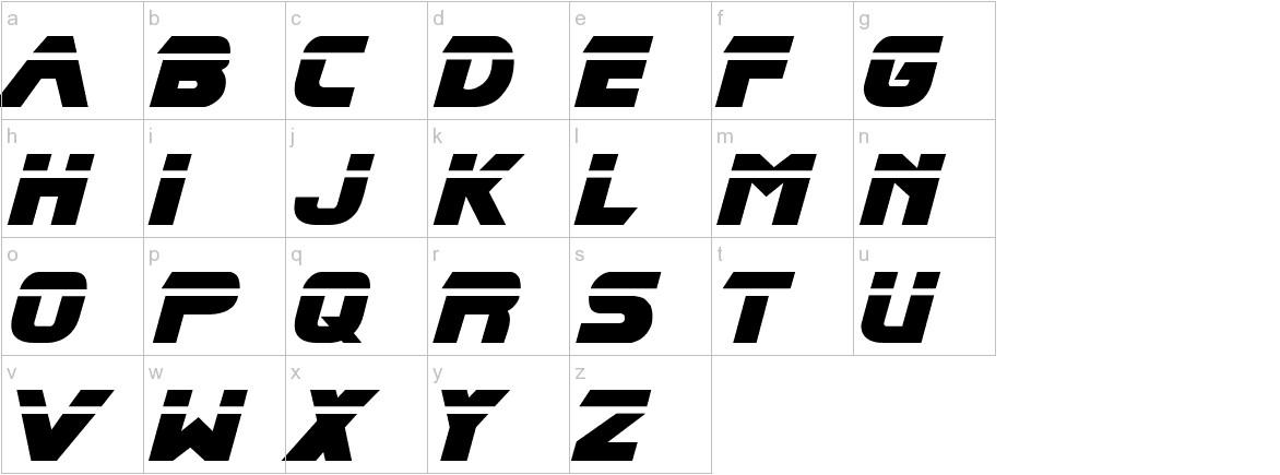 Blade Runner Movie Font lowercase