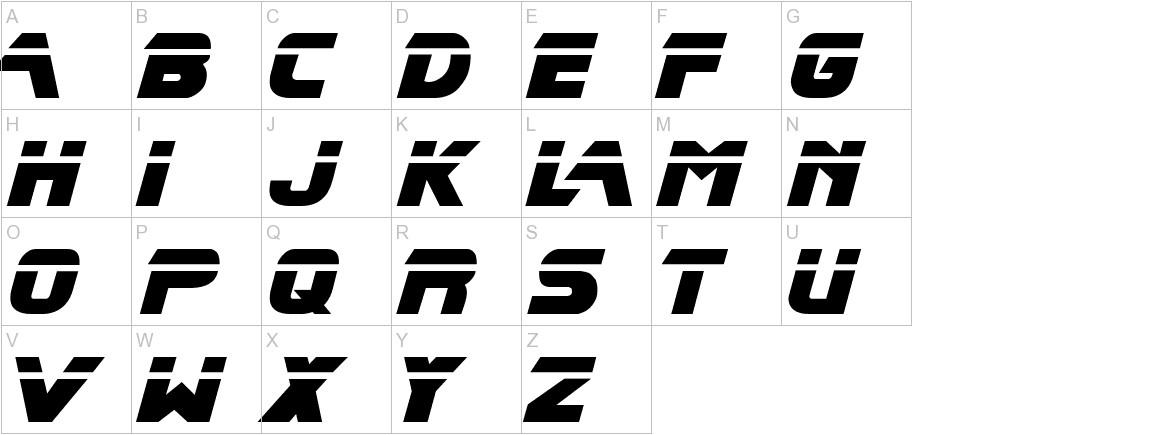 Blade Runner Movie Font uppercase