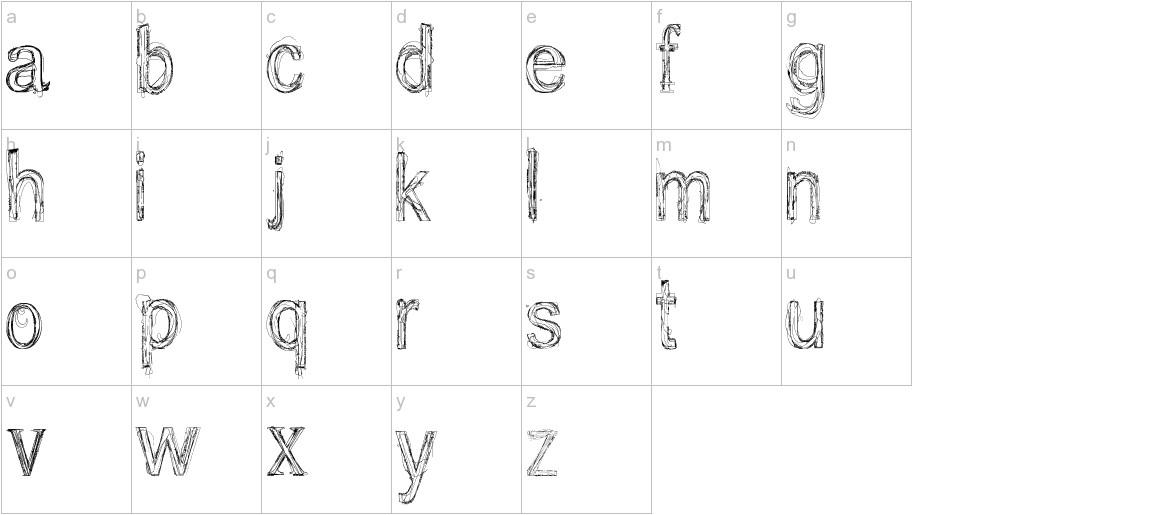 usang lowercase
