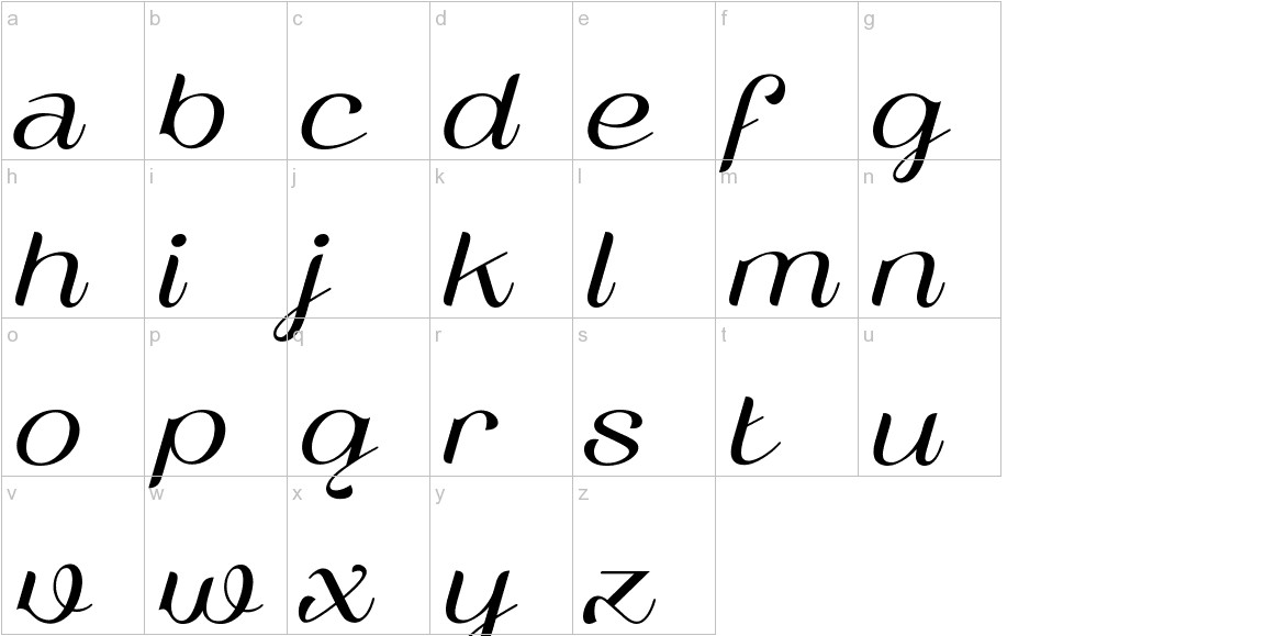 Vailsnick Italic  lowercase