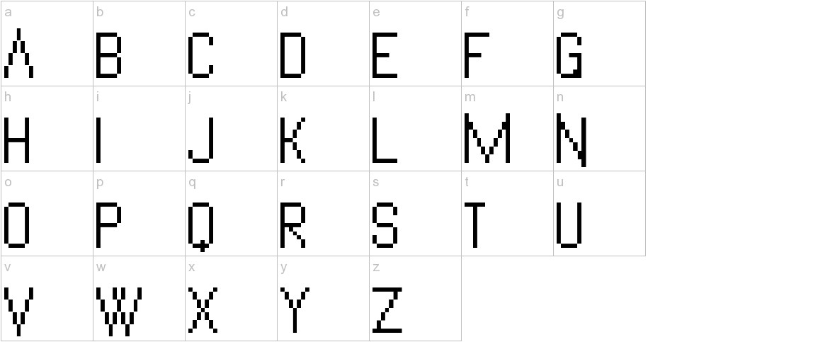 VanadinePix lowercase