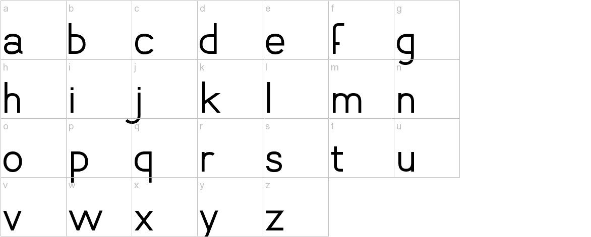 Vanlose_SimpleType lowercase