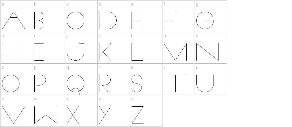 Veron lowercase