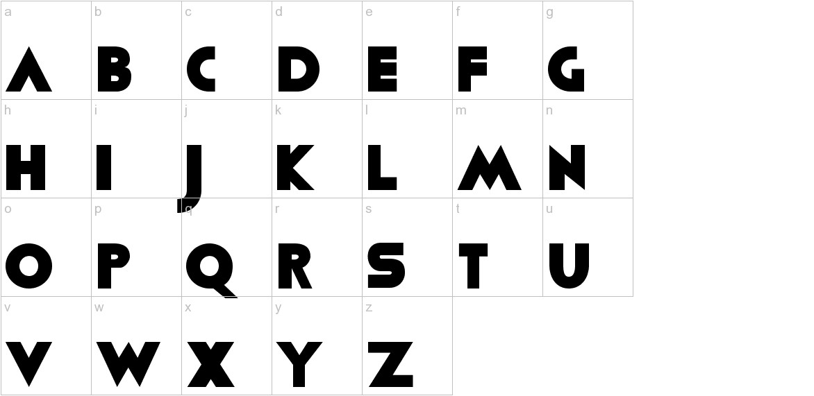 Viafont lowercase