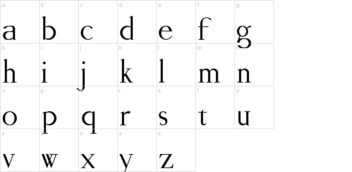 Viceroy lowercase