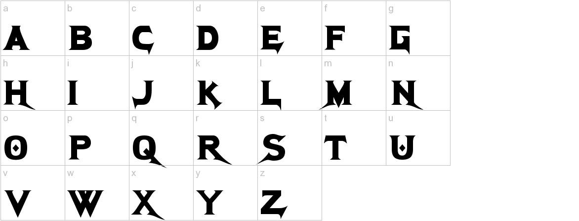 Megadeth Cryptic lowercase