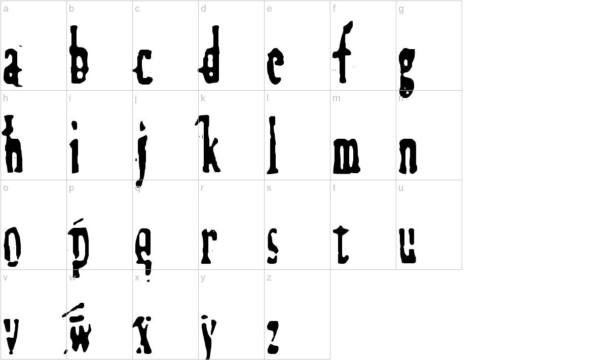 Megalomania X lowercase