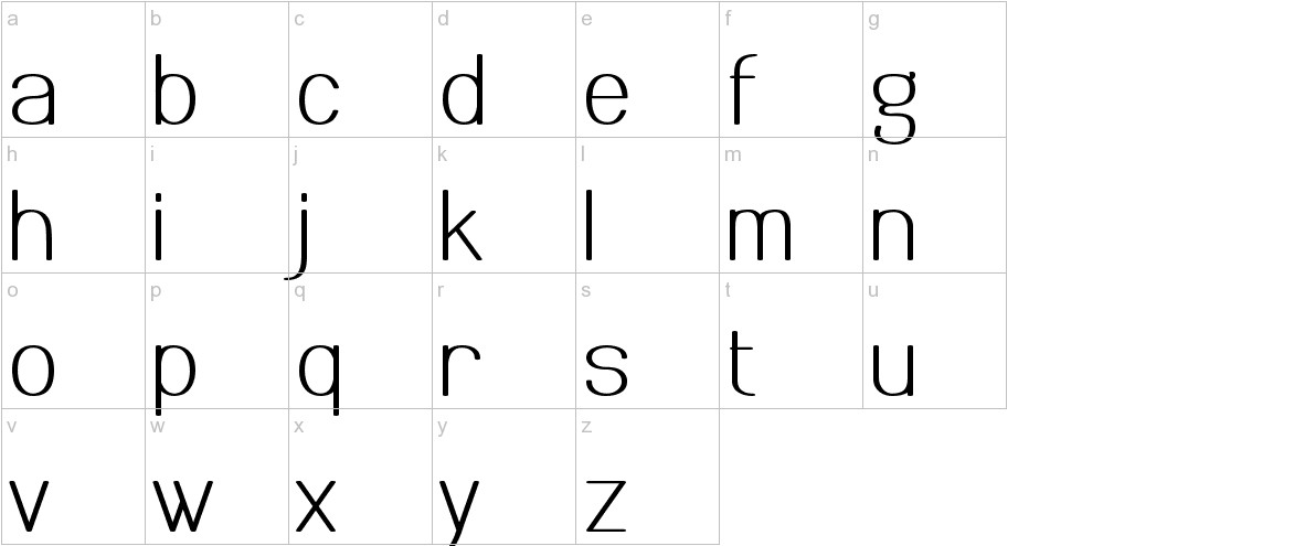 Meichic lowercase