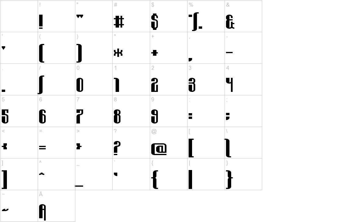 Wabbit Sans characters