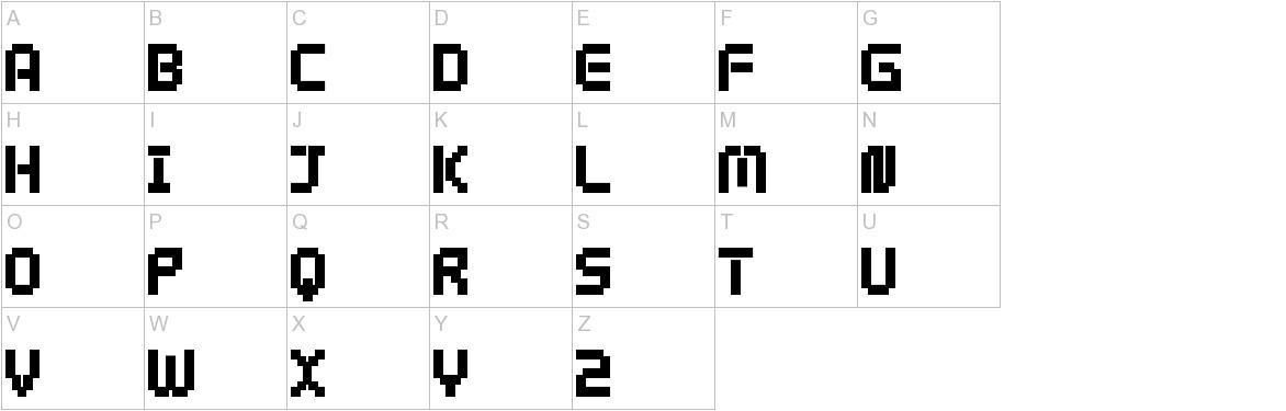 webpixel bitmap Black uppercase