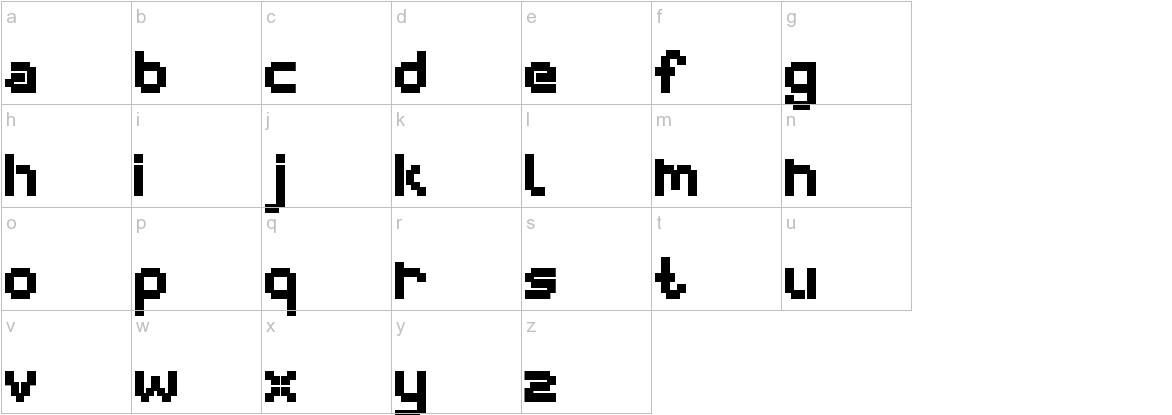 webpixel bitmap Black lowercase