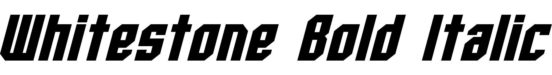 Whitestone Bold Italic
