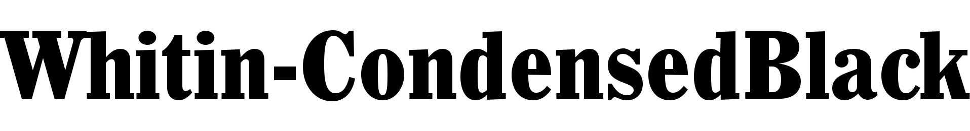 Whitin-CondensedBlack