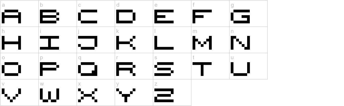 Wide Pixel-7 lowercase