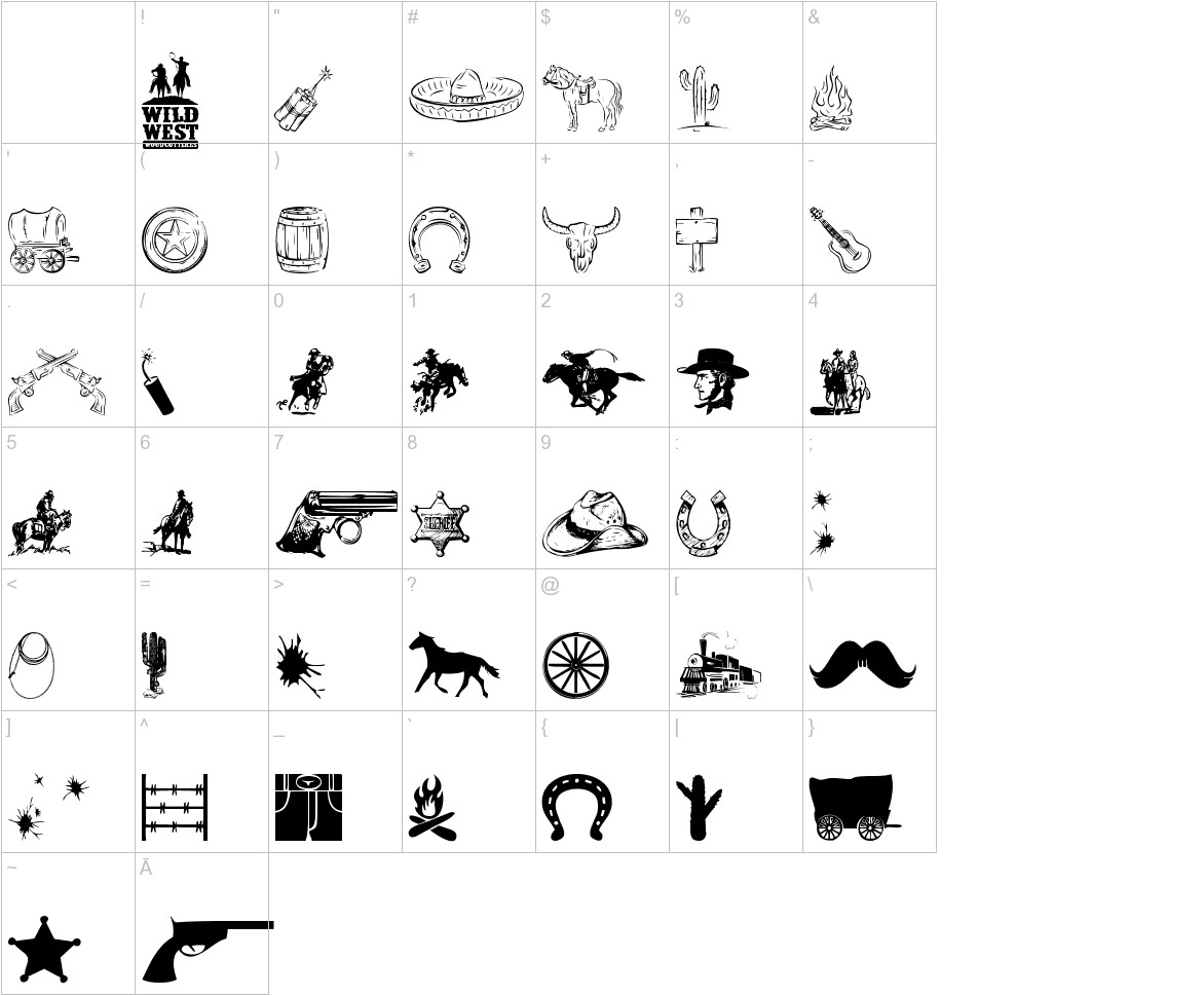 Wild West Icons characters