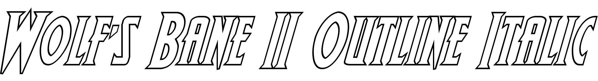 Wolf's Bane II Outline Italic