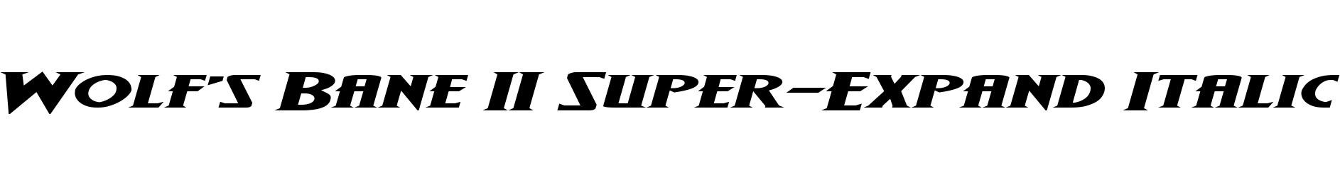 Wolf's Bane II Super-Expand Italic