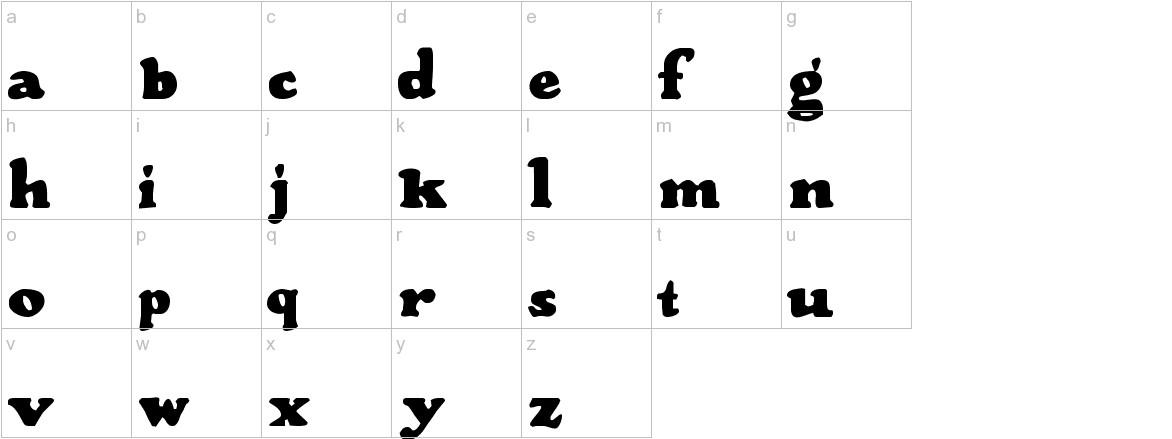 Wood Stevens Bold lowercase
