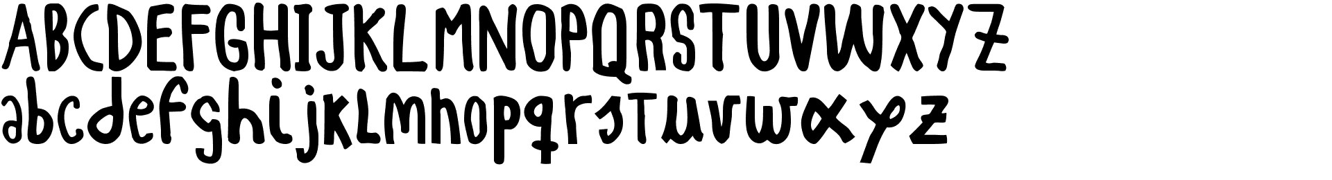 WOODCUTTER simple font Bold