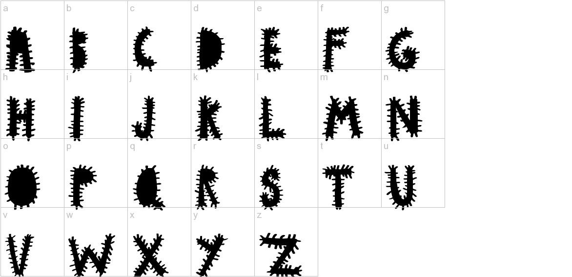 woodcutter VIRUS lowercase