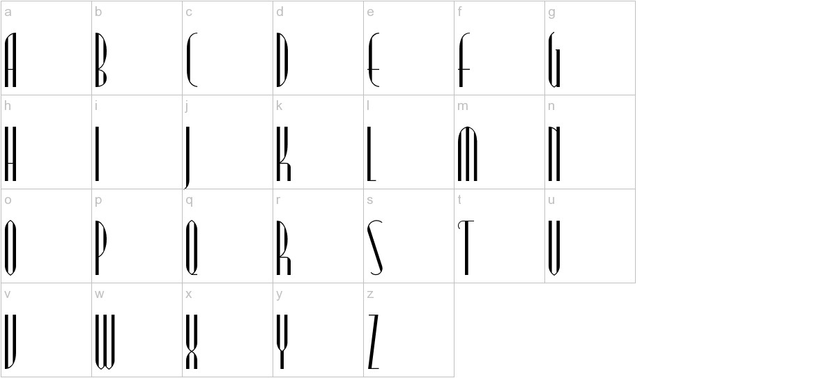 ModernTypography lowercase