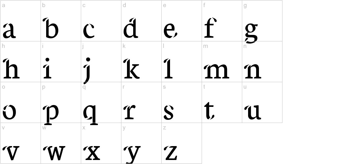 Xisfani lowercase