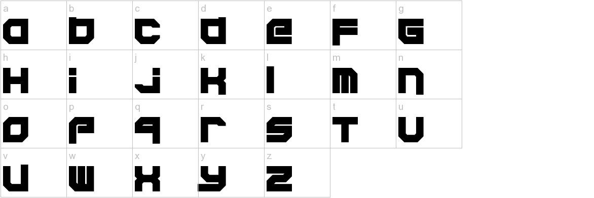 Xodohtro-Nu lowercase