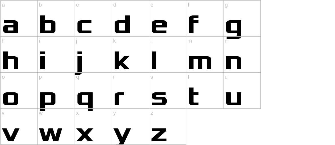 Xolonium Bold lowercase