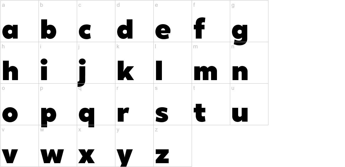 XXII Geom Black lowercase