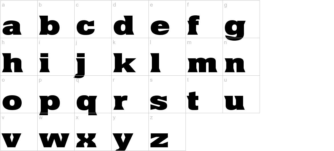 Yacimiento ExtraBold lowercase