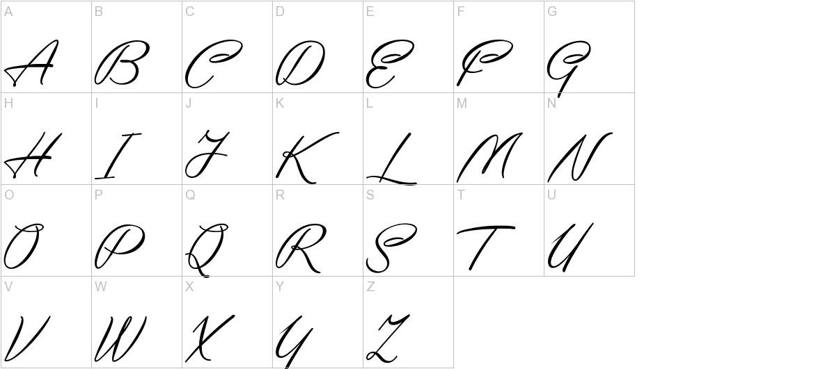 Yaquote Script uppercase