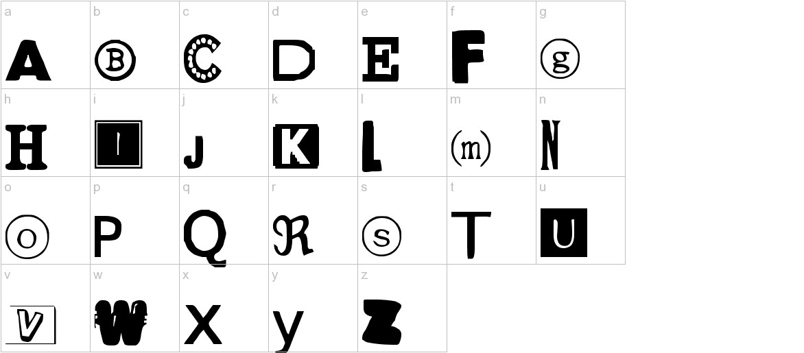 Yet Another Ransom Note lowercase