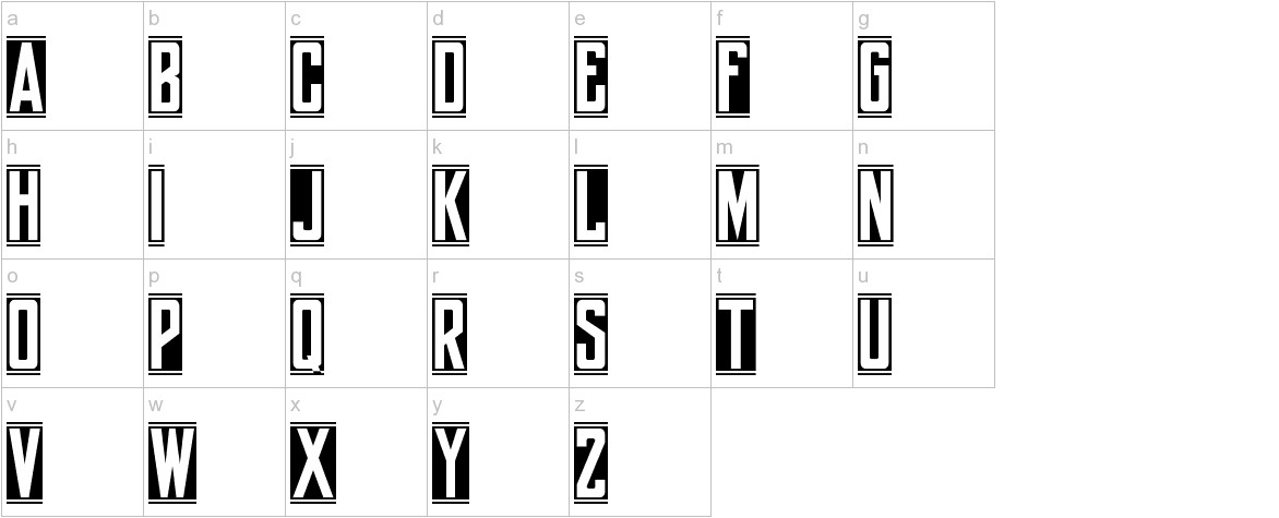 yorkwhiteletter lowercase
