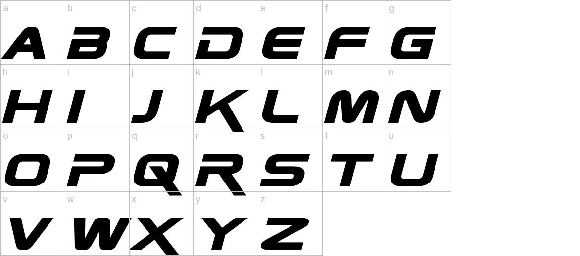 Zebulon Bold Italic lowercase
