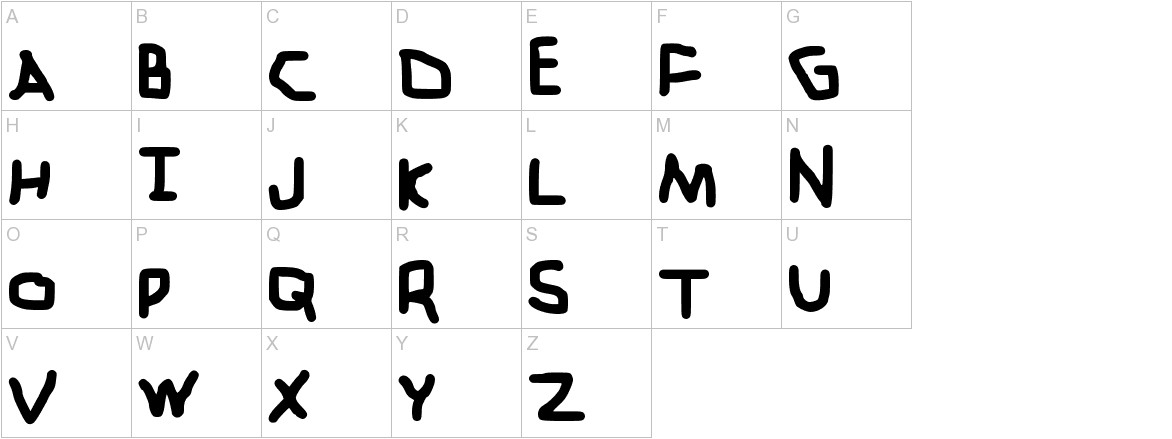 ZehkFont Medium uppercase
