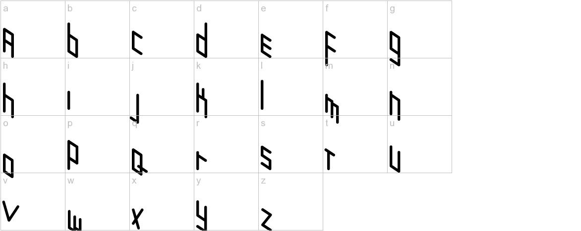Zigzagzug lowercase