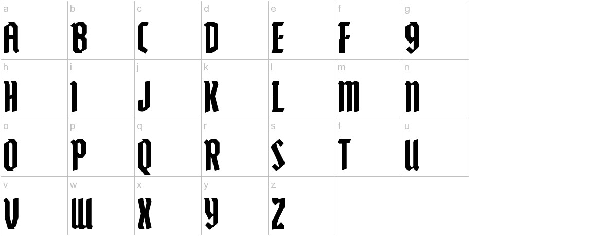 Zollern lowercase