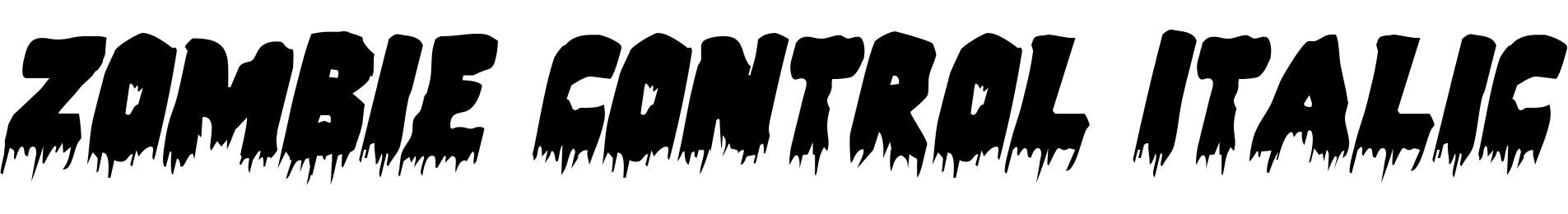 Zombie Control Italic