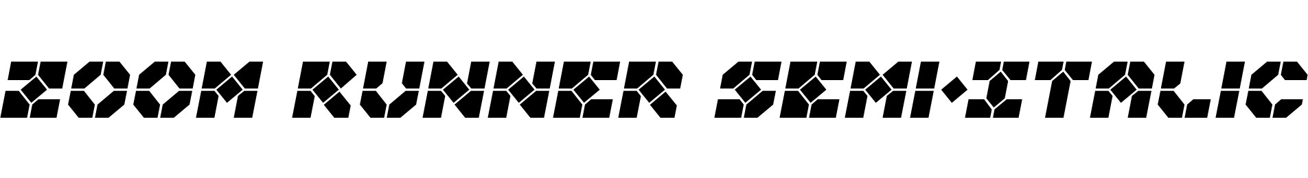 Zoom Runner Semi-Italic