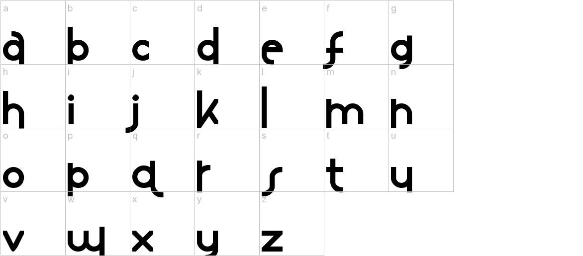 Mostios lowercase