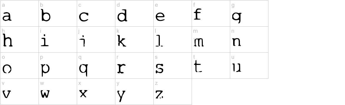 1980sWriter Medium lowercase