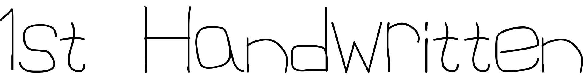 1st Handwritten