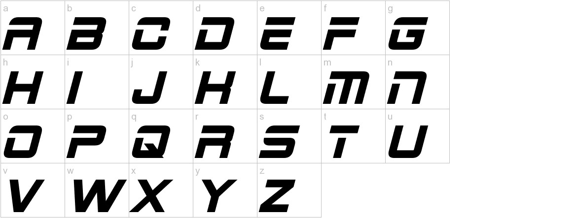 2015 Cruiser Bold Italic lowercase